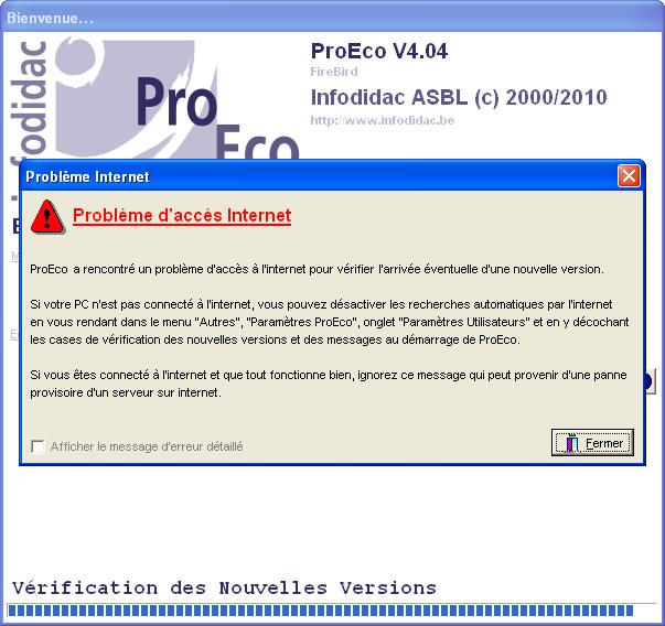 internet explorer server a rencontre un probleme